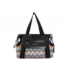 KALENCOM - Přebalovací taška Nola Black / Safari ZigZag