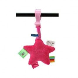 LABEL-LABEL - Plyšová hvězda se skřipcem, růžová