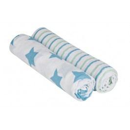 Lässig - Bavlněné pleny swaddle blanket 120x120 stars strips boys