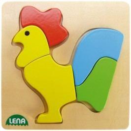 LENA - Dřevěné puzzle Kohout 32062