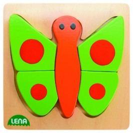 LENA - Dřevěné puzzle Motýl 32067