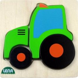 LENA - Dřevěné puzzle Traktor 32079 - FSC