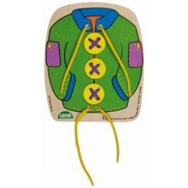 LENA - dřevěný navlékací obrázek kabát Leon