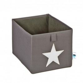 LOVE IT STORE IT - Malý box na hračky - šedý, bílá hvězda