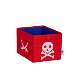 LOVE IT STORE IT - Malý úložný box Piráti - červený s bílým pirátem