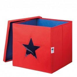 LOVE IT STORE IT - Úložný box na hračky s krytem a okénkem - hvězda