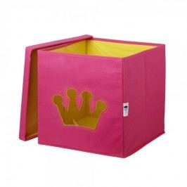LOVE IT STORE IT - Úložný box na hračky s krytem a okénkem - koruna