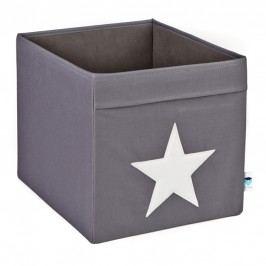 LOVE IT STORE IT - Velký box na hračky - šedý, bílá hvězda