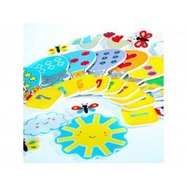 MEADOW KIDS - Pěnové samolepky do vany, balóny 1-10