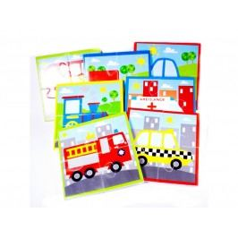 MEADOW KIDS - Puzzle do vany Dopravní prostředky