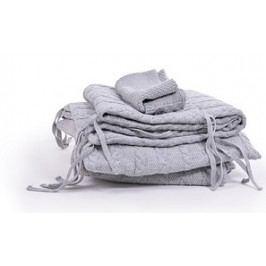 MONZA - Pletený set do postýlky Braid - šedý