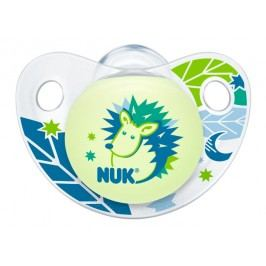 NUK - Dudlík Trendline DEN & NOC,SI,V1 (0-6m.), modrá ježek