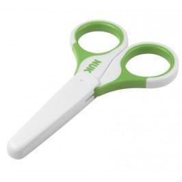 NUK - Dětské zdravotní nůžky s krytem, zelená