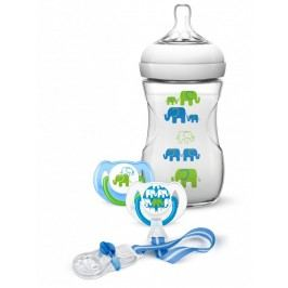 PHILIPS AVENT - Avent sada Natural 260ml PP slon zelená