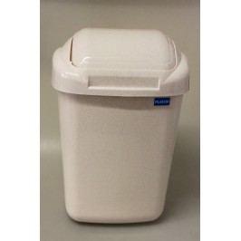 PLAFOR - Plastový odpadkový koš 30 l - béžový mramor
