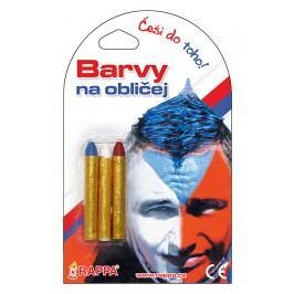 RAPPA - Barvy na obličej trikolóra