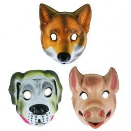 RAPPA - Karnevalová maska plastová zvířátka real B
