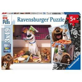 RAVENSBURGER - Tajný život mazlíčků   3x49 dílků