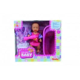 SIMBA - Panenka New Born Baby pije a čůrá, Baby Set