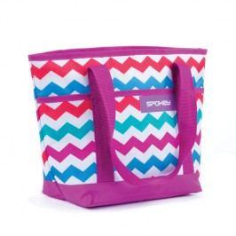 SPOKEY - ACAPULCO Plážová termo taška fialová vzor