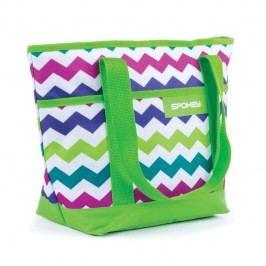 SPOKEY - ACAPULCO Plážová termo taška zelená vzor