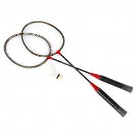 SPOKEY - BADMNSET1 Sada na badminton - 2 x raketa, košíček, obal