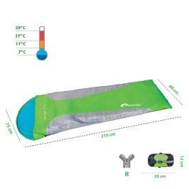 SPOKEY - ULTRALIGHT 600 Spací pytel mumia zelený, pravé zapínání