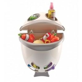 Thermobaby - Box na hračky Bubble Fish - Grey Ivory