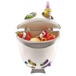 Box na hračky do koupelny Bubble Fish - šedá