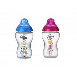 TOMMEE TIPPEE - Dojčenská fľaša s obrázkami C2N, 2ks, 340ml, 3+m