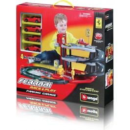 BBURAGO -  Ferrari Parking Garage se čtyřmi autíčky 31218