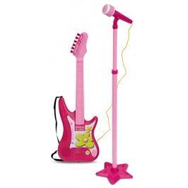 BONTEMPI - Rocková elektrická kytara s mikrofonem a stojanem 247571