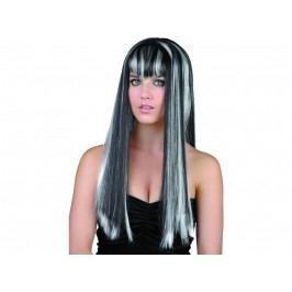 CASALLIA - Karnevalová paruka černobílá - dlouhé vlasy