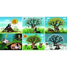 DINOTOYS - Dřevěné kostky Krtek 12 ks