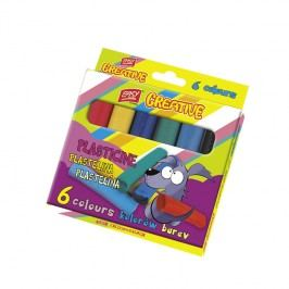 EASY - EasyCreative plastelina 6 barev/sada, 96g