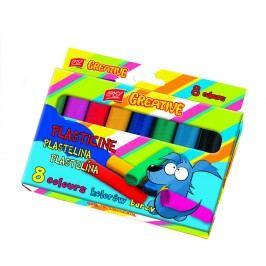 EASY - EasyCreative plastelina 8 barev/sada,128g