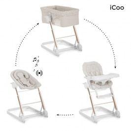 iCoo - Set kolébka, lehátko, stolička na krmení Grow with Me 1 2 3 - Diamond beige 2018