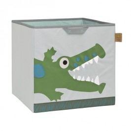 LÄSSIG - koš na hračky, Toy Cube Storage crocodile granny