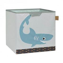 LÄSSIG - koš na hračky, Toy Cube Storage shark ocean