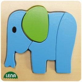 LENA - Dřevěné puzzle Slon 32061