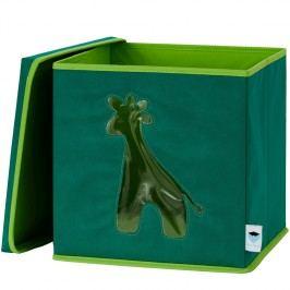 LOVE IT STORE IT - Úložný box na hračky s krytem a okénkem - žirafa