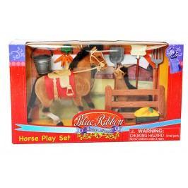 MAC TOYS - Kůň 19 cm a 13 cm s příslušenstvím