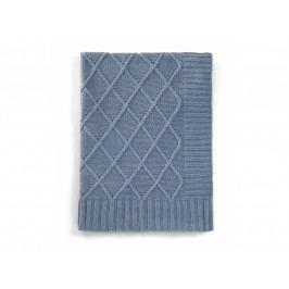 Pletená deka modrý denim