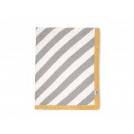 Pletená deka pruhy diagonálně