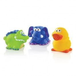 NUBY - Hračky do vany /krokodýl, slon, kachna/ 3ks 4 m