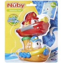 NUBY - Lodičky do vany 2ks 6 + m - červená, žlutá