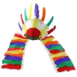RAPPA - Indiánská náčelnícka čelenka barevná
