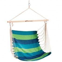SPOKEY - BENCH zelené pruhy -  Houpačka sedátko pro dva, do 120 kg, barevný mix