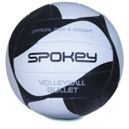 SPOKEY - BULLET Volejbalový míč černo-bílý  rozm.5
