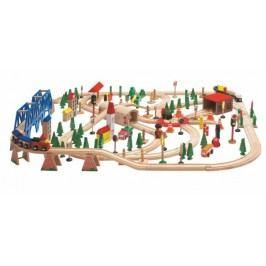 WOODY - Vláčkodráha Super Train v dřevěné krabici 90578